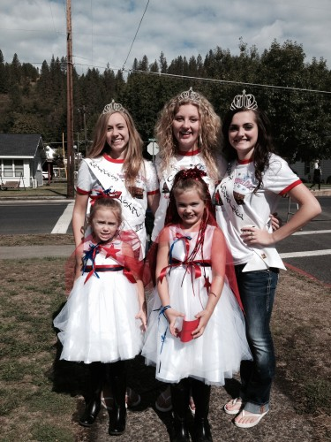 My girls all dressed up for the Kiddie Parade with the OCI Princesses!